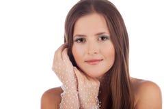 Close-up van een mooie jonge vrouw Royalty-vrije Stock Fotografie