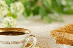 Close-up van een ontbijtlijst Stock Foto's