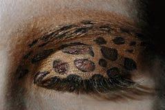 Close-up van een oog met make-up Stock Foto