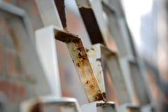 Close-up van een oud metaaldetail Royalty-vrije Stock Fotografie
