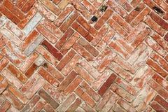 Close-up van een rode bakstenen muur royalty-vrije stock afbeeldingen
