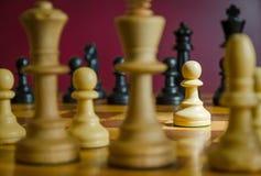 Close-up van een schaakstuk Stock Afbeeldingen