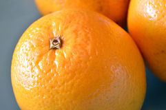 Close-up van een sinaasappel van Valencia Stock Fotografie
