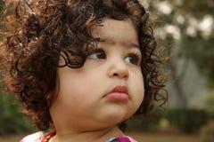 Close-up van een snoepje weinig kind Stock Afbeeldingen