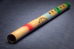 Close-up van een traditionele kleurrijke Japanse fluit stock fotografie