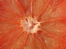 Close-up van een verdeeld oranje druivenfruit Royalty-vrije Stock Foto