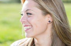 Close-up van een vrouw Royalty-vrije Stock Afbeeldingen