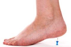 Close-up van een vrouwelijke voet Stock Foto's