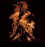 Close-up van een vuur royalty-vrije stock afbeelding