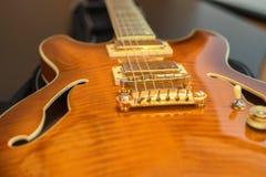 Close-up van elektrische gitaar stock afbeelding