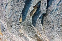 Close-up van Flysch in Zumaia Stock Afbeeldingen