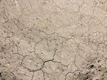Close-up van gebarsten grondgrond in het droge seizoen royalty-vrije stock foto's