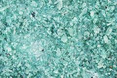 Close-up van gebroken glastextuur Hoogste mening Royalty-vrije Stock Afbeeldingen