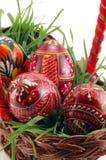 Close-up van gekleurde Paaseieren Royalty-vrije Stock Afbeelding