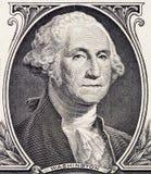 Close-up van George Washington-portret op één dollarrekening unite royalty-vrije stock afbeeldingen