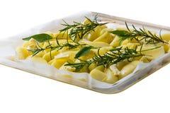 Close-up van geroosterde aardappels Royalty-vrije Stock Fotografie