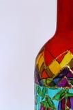 Close-up van geschilderde fles Stock Foto's
