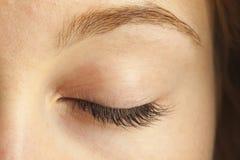 Close-up van gesloten oog Royalty-vrije Stock Afbeelding