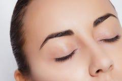 Close-up van gesloten oog Stock Afbeeldingen