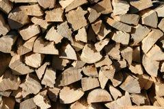 Gestapeld cottonwood brandhout Royalty-vrije Stock Fotografie