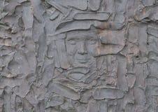 Close-up van gezicht, Vrijheidsbeeldhouwwerk, door Zenos Frudakis, Philadelphia stock foto