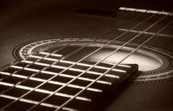 Close-up van gitaar Stock Afbeeldingen