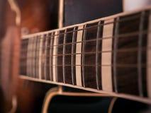 Close-up van gitaardetails stock afbeelding