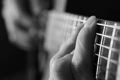Close-up van Gitaarkoorden voor Muziek Royalty-vrije Stock Afbeelding
