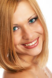 Close-up van glamourmeisje het stellen Royalty-vrije Stock Fotografie