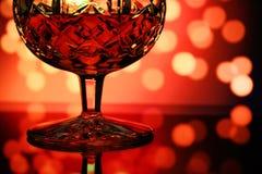Close-up van glas cognac royalty-vrije stock foto