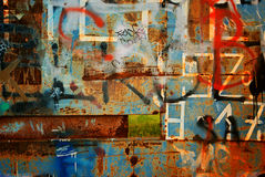 Close-up van graffiti Royalty-vrije Stock Afbeeldingen