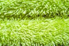 Close-up van groene handdoek Royalty-vrije Stock Afbeelding