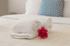Close-up van handdoeken stock foto
