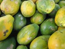 Close-up van Hawaiiaanse papaja's royalty-vrije stock afbeelding