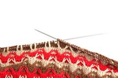 Close-up van het breien Stock Foto