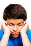 Close-up van het Denken van de Jongen Royalty-vrije Stock Foto