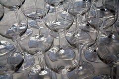 Close-up van het drinken van glazen Royalty-vrije Stock Foto's