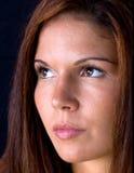 Close-up van het Gezicht van de Mooie Vrouw Stock Foto's