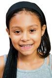 Close-up van het Glimlachen van het Meisje Royalty-vrije Stock Foto's