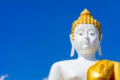 Close-up van het grote standbeeld van Boedha Stock Foto