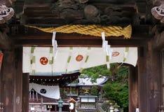 Close-up van het Heiligdompoort van Himure Hachiman, OMI-Hachiman, Japan Royalty-vrije Stock Afbeelding