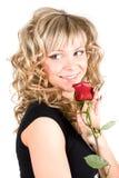 Close-up van het jonge gezicht van het blongmeisje Royalty-vrije Stock Afbeeldingen