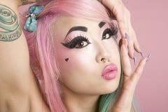 Close-up van het jonge vrouw stellen stock fotografie