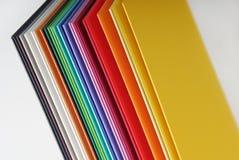 Close-up van het kleurrijke document Royalty-vrije Stock Afbeelding