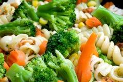 Close-up van het koken van groenten Royalty-vrije Stock Fotografie