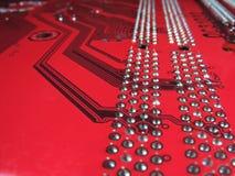 Close-up van het patroon van de Raad van de Kring van de Computer royalty-vrije stock afbeelding