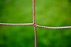Close-up van het Rode Netto Koord van het Voetbal Royalty-vrije Stock Fotografie