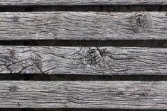 Close-up van het ruwe doorstane hardhout decking Royalty-vrije Stock Foto