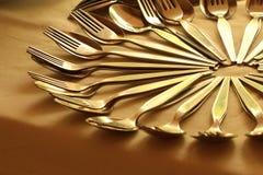 Close-up van het schikken van lepel en vork royalty-vrije stock afbeelding