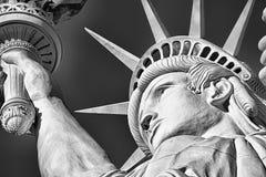 Close-up van het Standbeeld van Vrijheid wordt geschoten die royalty-vrije stock fotografie